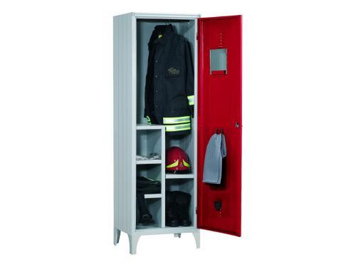 armadio-spogliatoio-ripiani-regolabili-specchio-salvagoccia-portaombrello vigili del fuoco